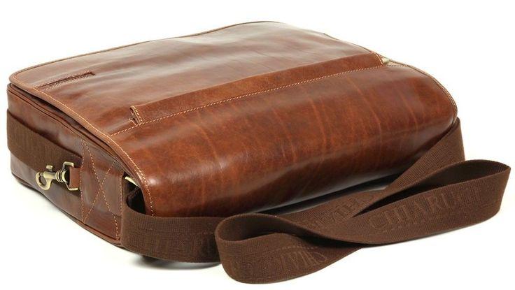 Chiarugi borsa uomo in pelle con tracolla italian leather men bag with shoulder | eBay