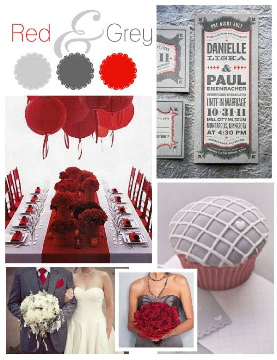 Color Palette For February Weddings With Red | Red And Grey Wedding,  Calgary Wedding Planning