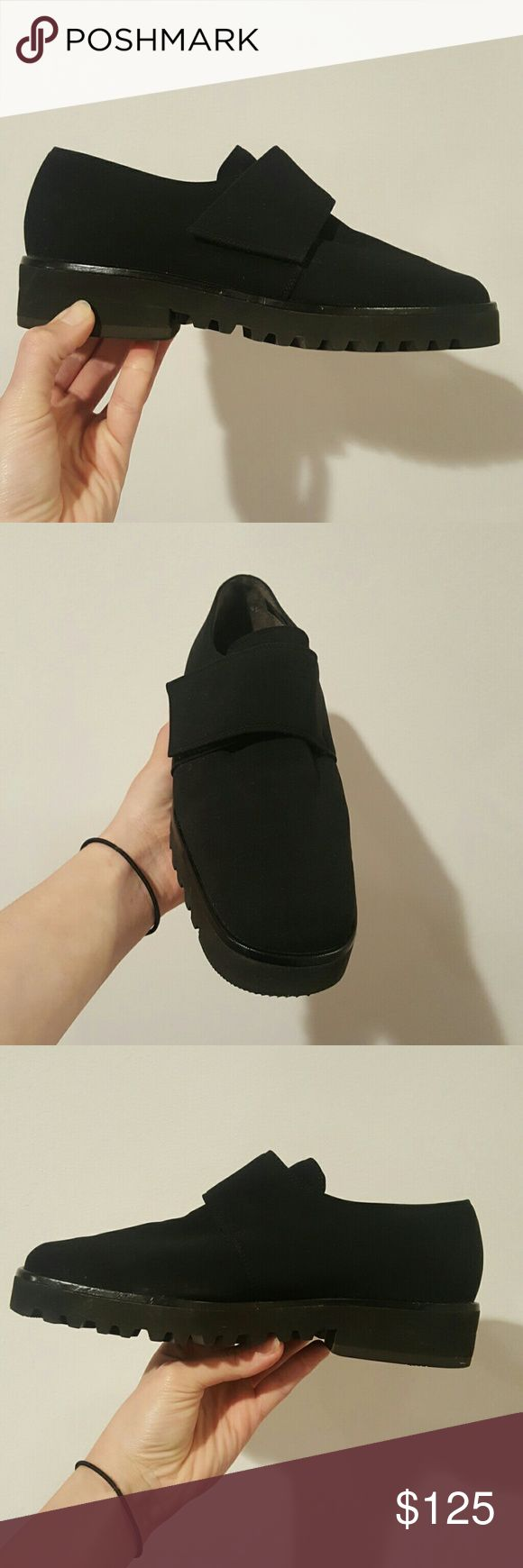 Paul Green 4.5 BLACK LOAFER SHOES PAUL GREEN SIZE 4.5 MADE IN GERMANY BLACK FABRIC Paul Green Shoes Flats & Loafers