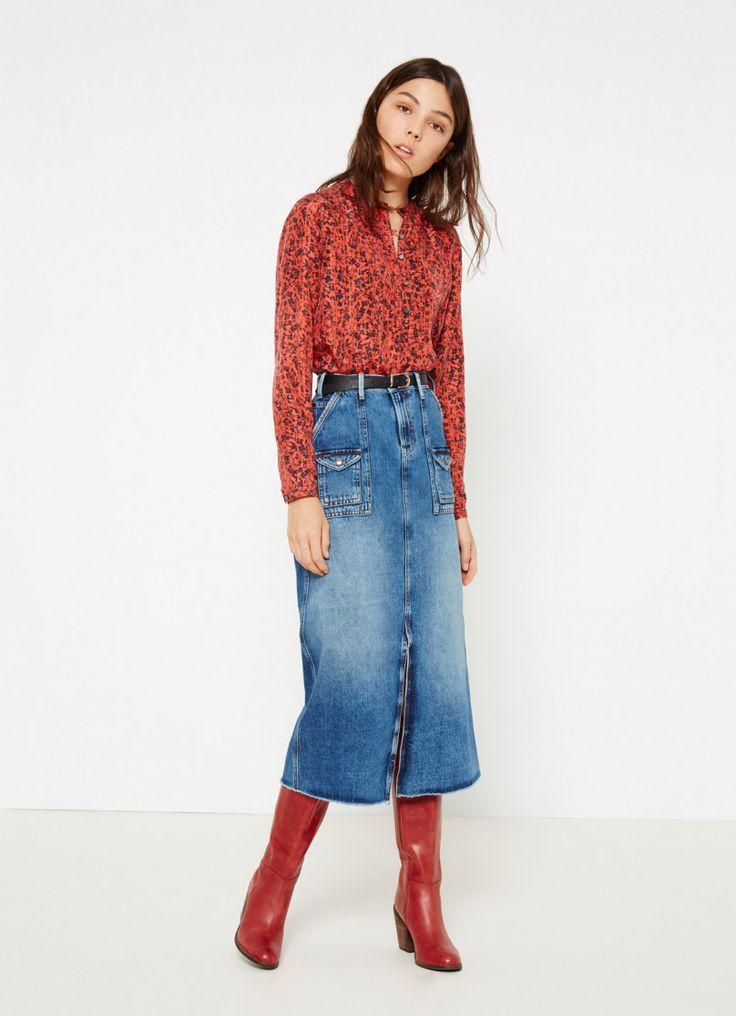 FLOWER PRINT BLOUSE 'ALBA' | WOMEN | Pepe Jeans London