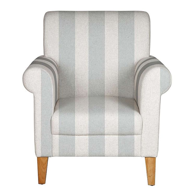 Valencia Grey Stripe Armchair | Dunelm