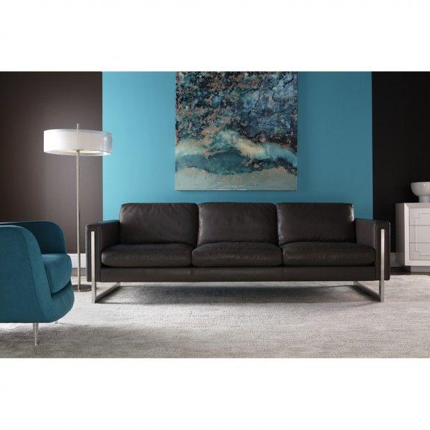American Leather Savino Sofa. Modern leather sofas at CraveFurniture.com @americanleather