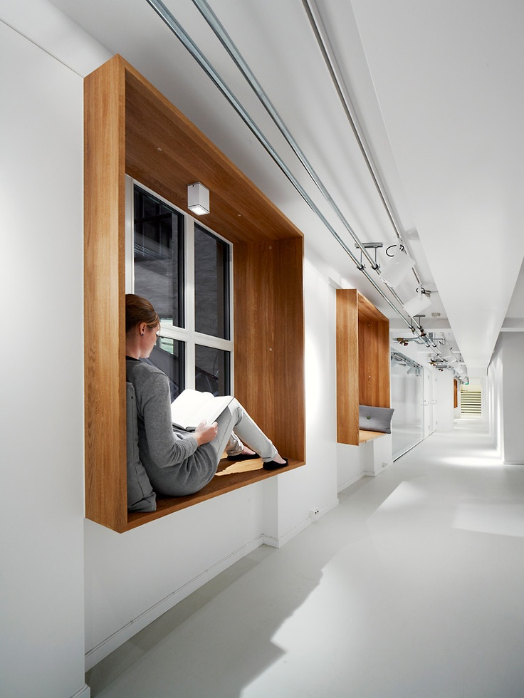 "An OpenPlan Office With A ""Monastery"" For Quiet"