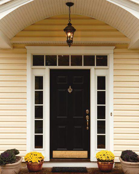 Doors: Steel Front Door With One Sidelight And Antique Mahogany Front Door With Sidelight from Ideal Home with the Front Door with Sidelights
