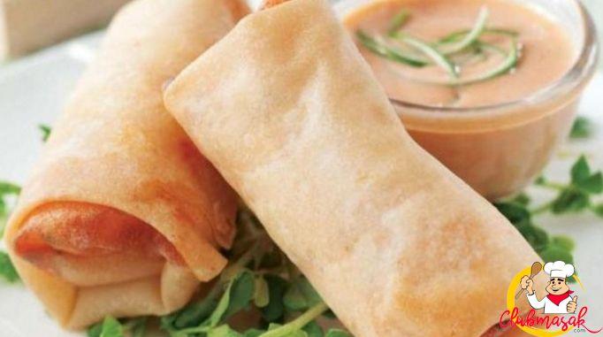 Resep Sajian Dengan Saus Mayones, Lumpia Udang Saus Mayo Nanas, Masakan Ala Cafe, Club Masak