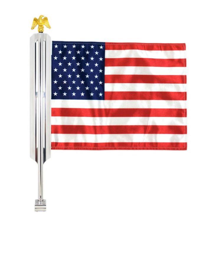 Motorcycle Flag Mount Wings 11.5X15 Flag