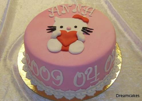 En doptårta där motivet passar även på en födelsedag.