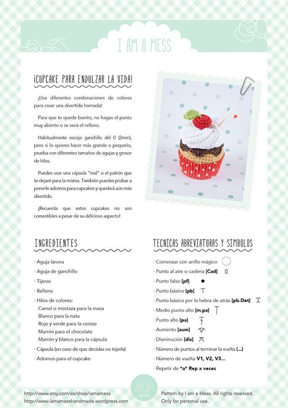 15 best dolci e dolcetti amigrumi images on pinterest crochet food cupcake crochet pattern whipped cream chocolate and cherry cupcake pdf ccuart Gallery