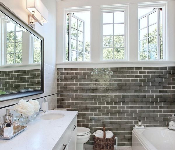 find this pin and more on bathroom backsplashtile - Bathroom Subway Tile Backsplash