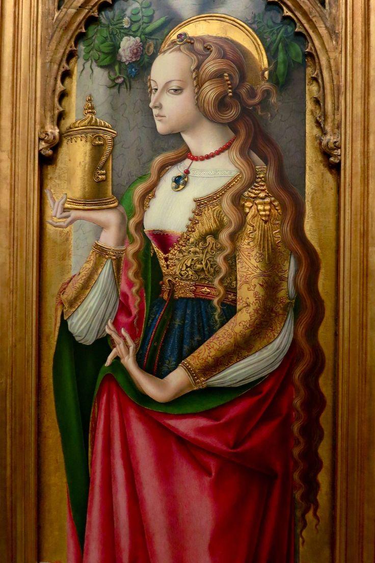 J'ai découvert l'éclat doré de cette Marie-Madeleine peinte par Carlo Crivelli en 1490. On peut l'admirer au Rijksmuseum. (That's some pretty professional level side-eye there.)