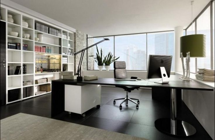 http://taizh.com/wp-content/uploads/2014/11/Rustic-open-floor-home-office-with-large-desk-and-comfy-chairs-along-with-wide-glass-window-also-pendant-lamp-over-the-table-and-white-wooden-furniture-shelves-including-beige-carpet-on-black-tile-floor.jpg