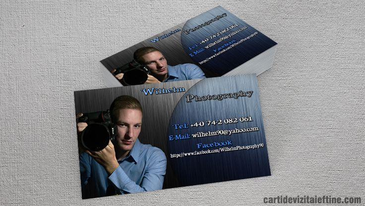 Astazi prezentam carti de vizita realizate pentru Wilhelm Photography unde domeniul de activitate principal este: fotografie profesionala pentru nunta, botez, evenimente si ocazii speciale.