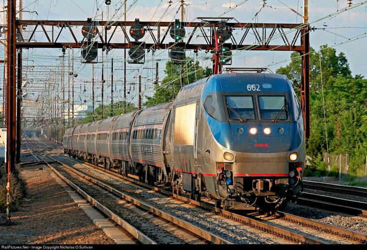 AMTK 662 Amtrak Bombardier/Alstom HHP-8 at New Brunswick, New Jersey by Nicholas O Sullivan