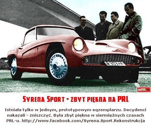 Syrena Sport - zbyt piękna na PRL