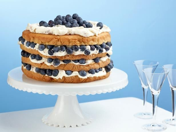 Get Billie's Italian Cream Cake with Blueberries Recipe from Food Network