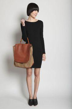 Rachel Comey Secret Handle Handbag (Caramel Suede)