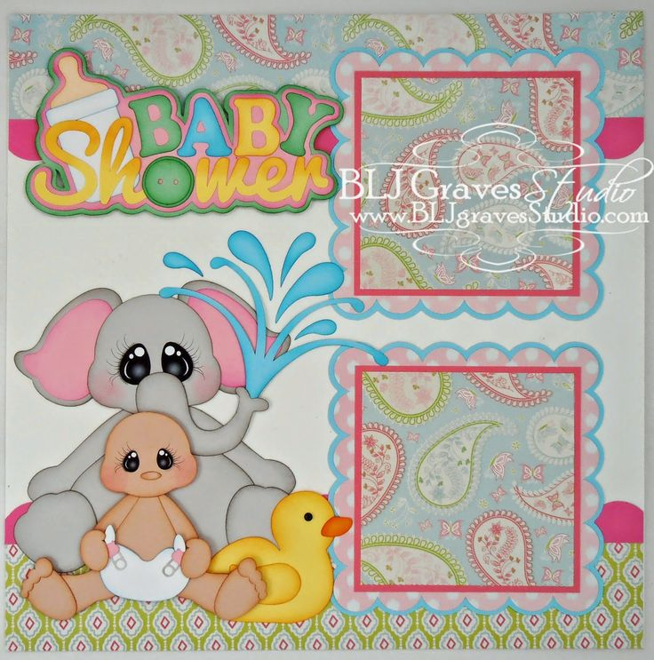 Baby Shower Scrapbook Pages Part - 25: BLJ Graves Studio: Baby Shower Scrapbook Pages