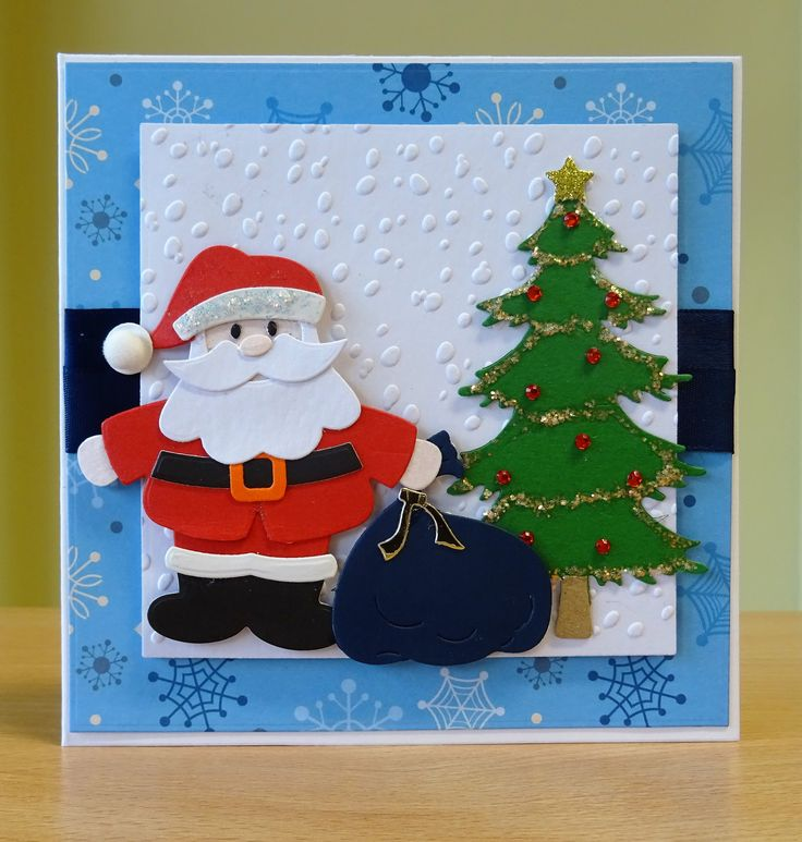 christmas gift tags handmade wooden santa embellishments for more of my cards please visit craftycardstudio on etsycom pinterest christmas gifts - Santa Cards