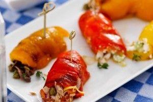 Rulouri din ardei copti - Culinar.ro