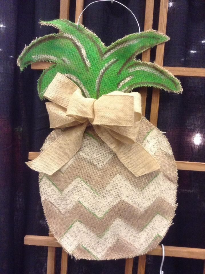 Burlap Pineapple  http://www.happybyroxanne.com