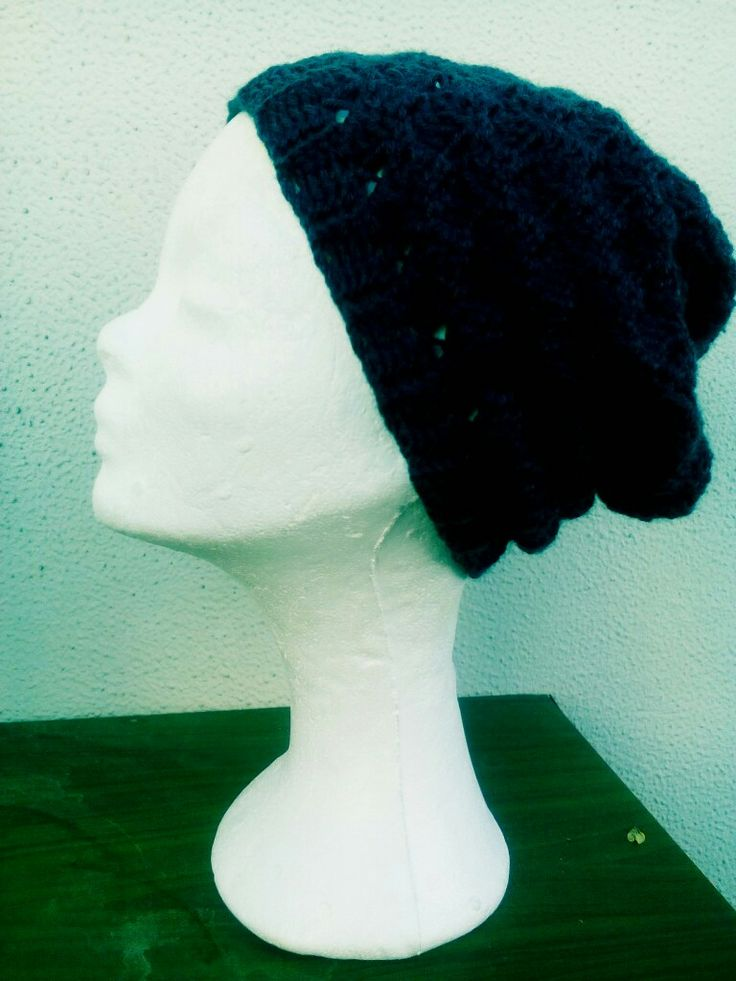 Handmade crochet slouch hat for women..