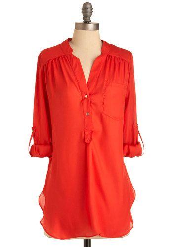 Tomato Tunic: Style, Long Sleeve Shirts, Colors, Breeze Li Tunics, Hot Pink, Tomatoes, Retro Vintage, Pam Breeze Li, Breeze Tunics