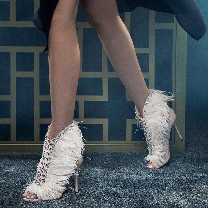 Giuseppe Zanotti Charleston Suede And Feathers High Heel Sandals 1 995 High Heel Boots Ankle High Heels Stilettos Giuseppe Zanotti Heels