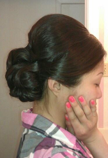 #Bride #up do #hair #bun