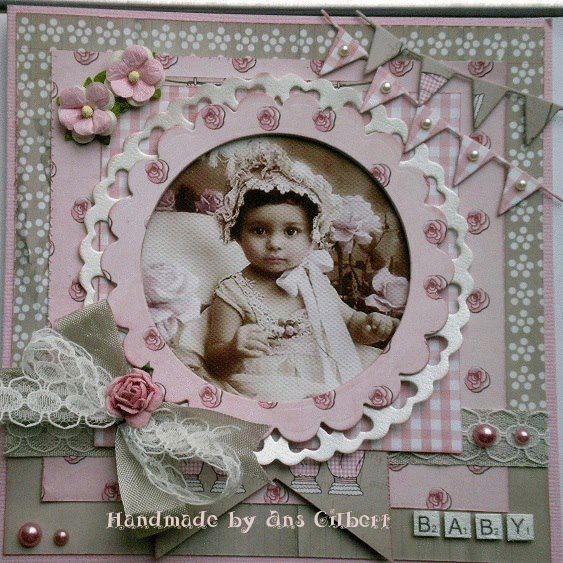 rosadotje old cotton babykaart