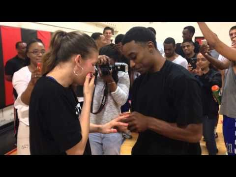 True Love and Basketball proposal 2015 - Superman Johnson vs Breyschoice - YouTube
