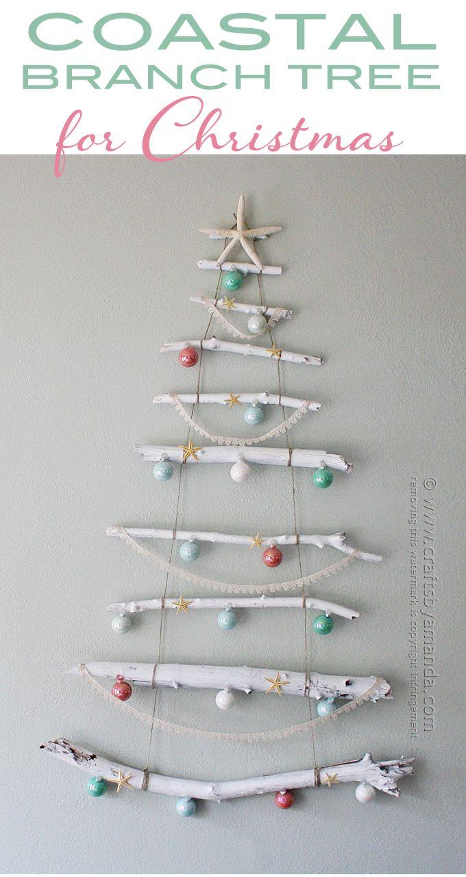 Coastal Branch Tree for Christmas by Amanda Formaro, Crafts by Amanda