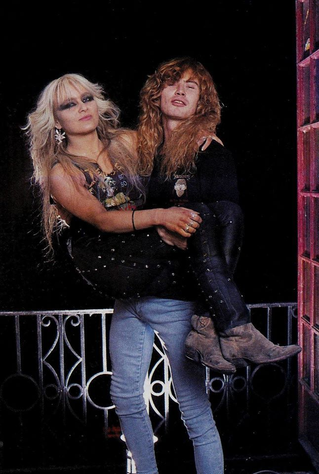 Doro Pesch with Dave Mustaine