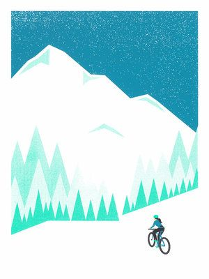 <p>My poster was inspired by the epic views of Mt Hood and the foggy forests of the Pacific Northwest. Also, as a female cyclist, it's really important to me that women are featured doing rad bike adventures. I'm hoping it inspires more females to get out and ride bikes!</p>
