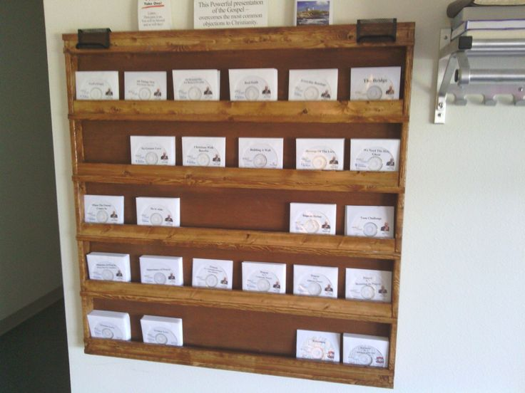 Handmade Wall Hanging Cd Commercial Display by Good Shepard Wood Working | CustomMade.com & 45 best Storage Ideas images on Pinterest | Organization ideas ...