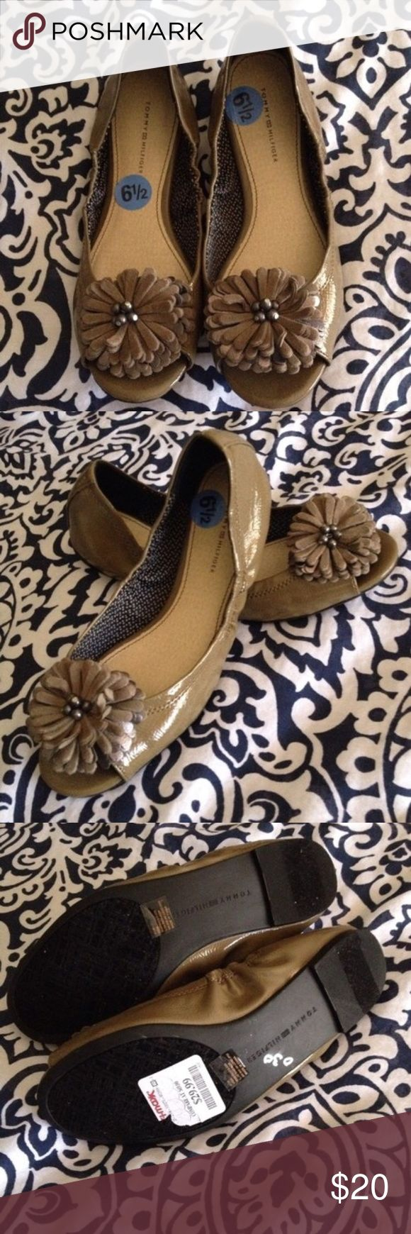 Tommy Hilfiger Peep Toe Flats New Peep Toe Flats Size 6.5 Tommy Hilfiger Shoes Flats & Loafers