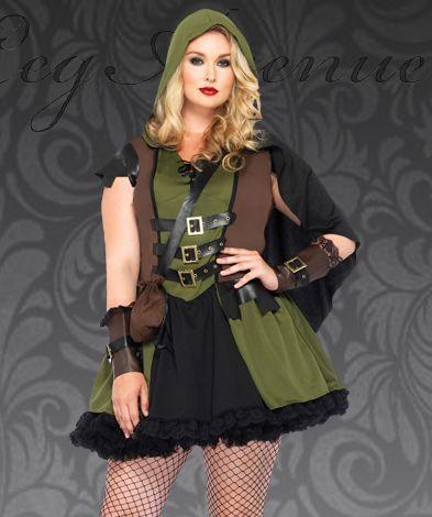 218c65e00c0 Plus Size Darling Robin Hood Renaissance Fancy Dress Costume 85281X  64.95