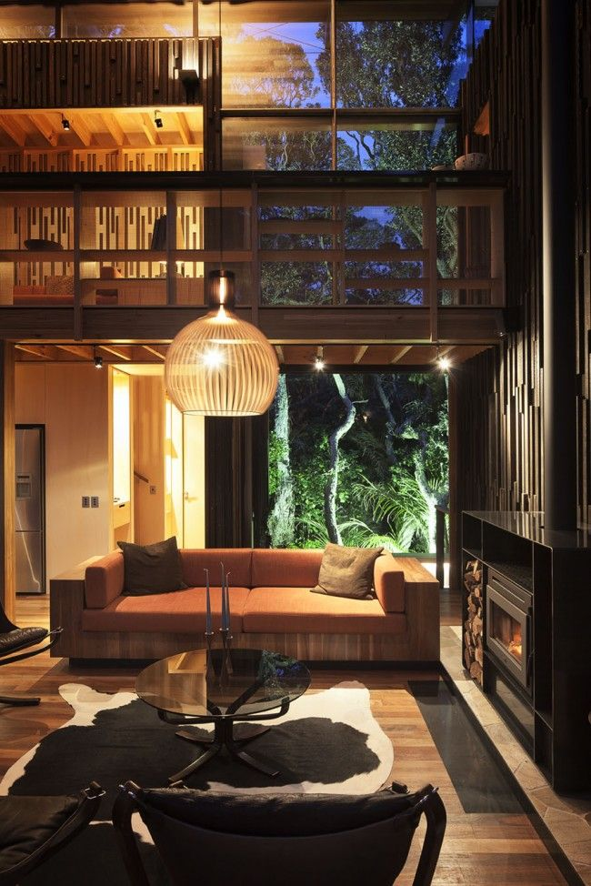 House among the Pohutukawa trees at Piha - from Best of New Zealand Home Design episode 11