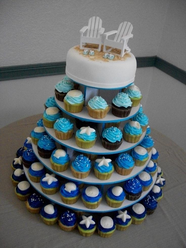 Beach Chair Cupcake Tower