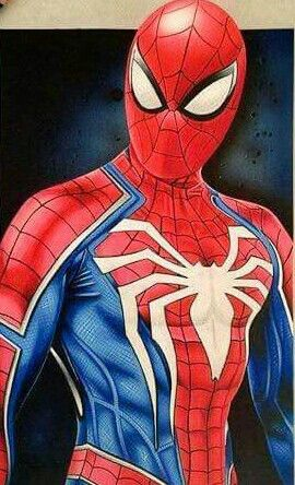 Spider-Man. This is the spidey's costume for the future (i think) spiderman's game, exclusive for Playstation 4, i'm waiting to play this game, but first i have to find a Playstation 4 :'(