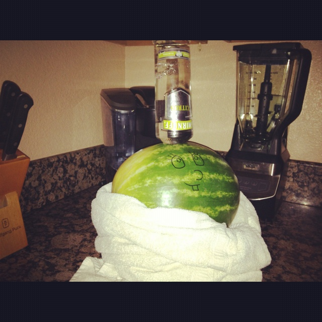 Vodka infused watermelon