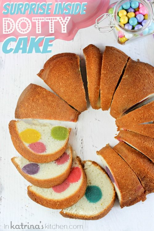 Surprise Inside Dotty Cake- simple to make and sure to impress! LOVE THIS!!: Cake Recipe, Cakes, Easter Cake, Bundt Cake, Pound Cake, Surprise Inside Dotty, Dotty Cake
