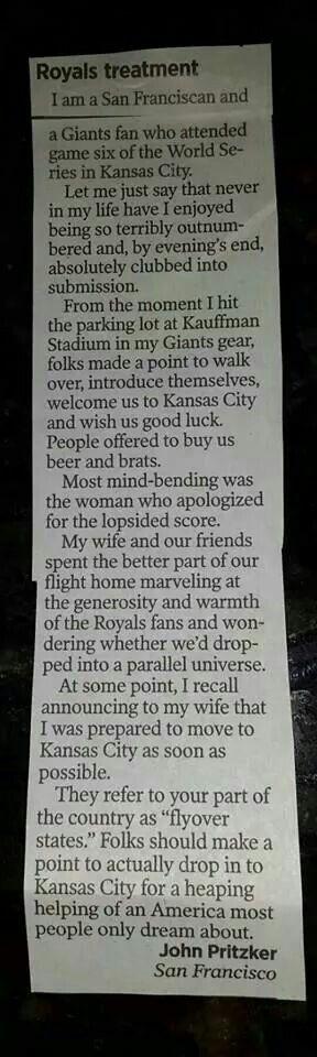 KC Royals....not the Chiefs but a proud representation of Kansas City :)