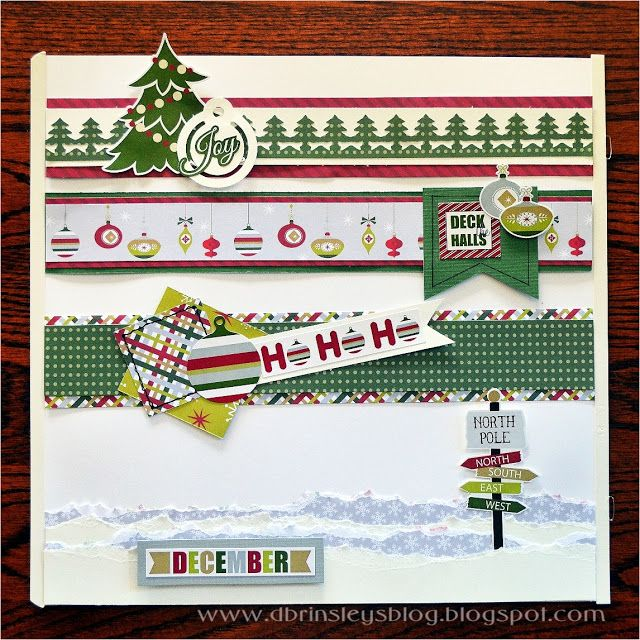 Holiday Blog Hop - Christmas borders made with Creative Memories Products www.creativememories.com/user/CandaceBouldin  #Santa #NorthPole