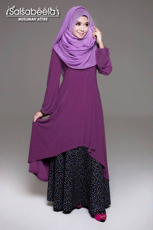 Muslimah Purple Fishtail Dress