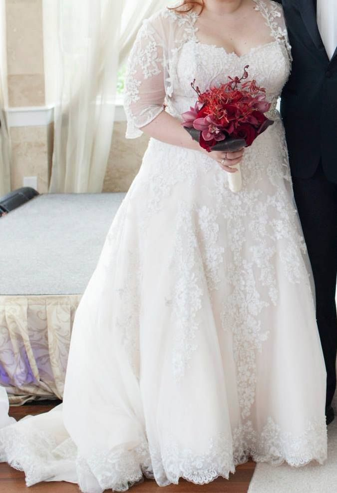 Eve Of Milady 120089 4298 Size 20 Used Wedding Dress Nearly