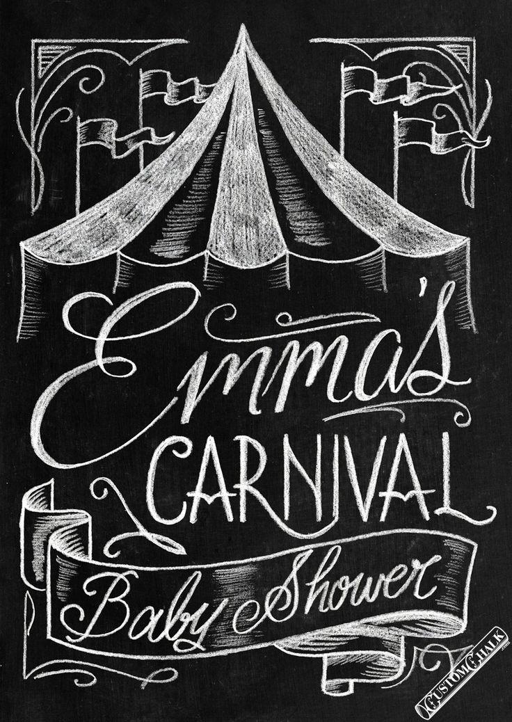 Chalkboard Lettering Digital Chalkboard Art Carnival