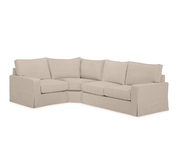 PB Comfort Square Slipcovered Right Arm 3 piece Wedge Sectional – Slipcovered Sectional Sofas – Living Room Furniture – Pottery Barn