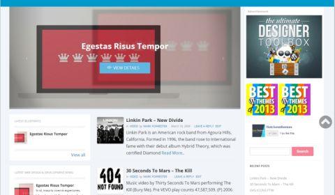 UltraMag – Codrops Clone Magazine WordPress Theme with Slider