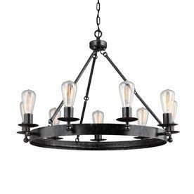 Sea Gull Lighting Ravenwood Manor 31-In 9-Light Stardust Industrial Ca