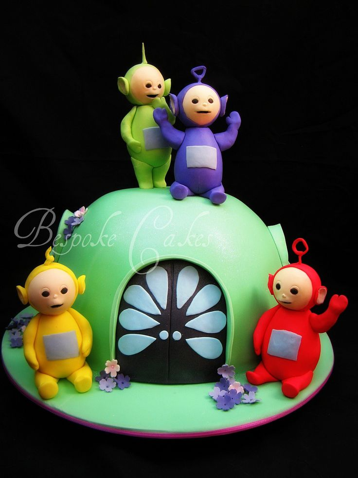 Tinky Winky Dipsy Laa-Laa Po! Birthday Cake! Kids! Parents! Yummy!